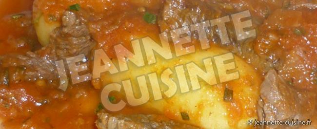 Ragout de boeuf aux pommes de terre