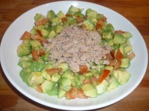 Salade d'avocat et de thon