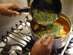 Sauce kopè - ajouter le gombo