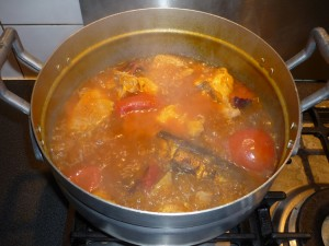 Sauce kopé - ajouter huile rouge
