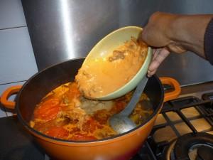 Sauce mafé ajouter arachide