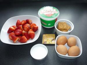 Tiramisu aux fraises - ingredients