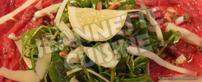 Carpaccio de Boeuf Jeannette Cuisine