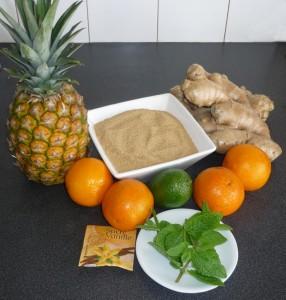 Les ingrédients du jus de gimgembre