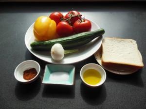 Gaspacho ingrédients