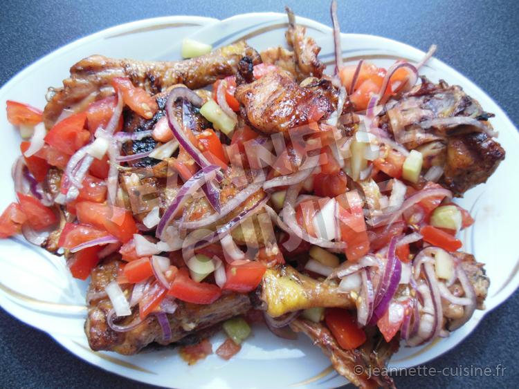 Poulet Braise Plat Africain Jeannette Cuisine