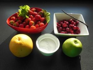 Soupe de fraise et de framboises - Ingrédients