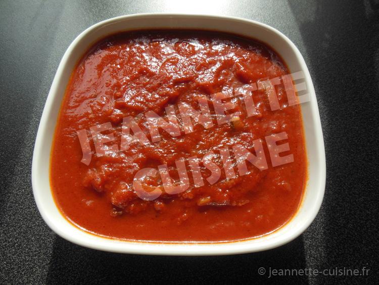 La sauce tomate par jeannette cuisine accompagnement for Sauce tomate cuisinee