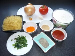 Les ingredients de l'Aller-retour aux macaronis.