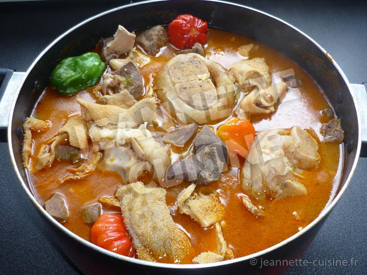 P p soupe d abats et pattes de b uf plat africain jeannette cuisine - Comment cuisiner les pieds de mouton ...