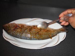 napper votre poisson braisé