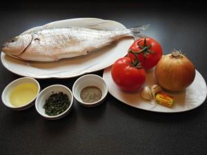 Poisson braisé d'Abidjan - les ingrédients