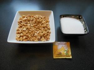 ingrédients du nougat aux arachides