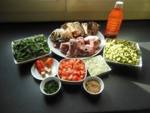 Sauce feuilles de patates douces ingrédients