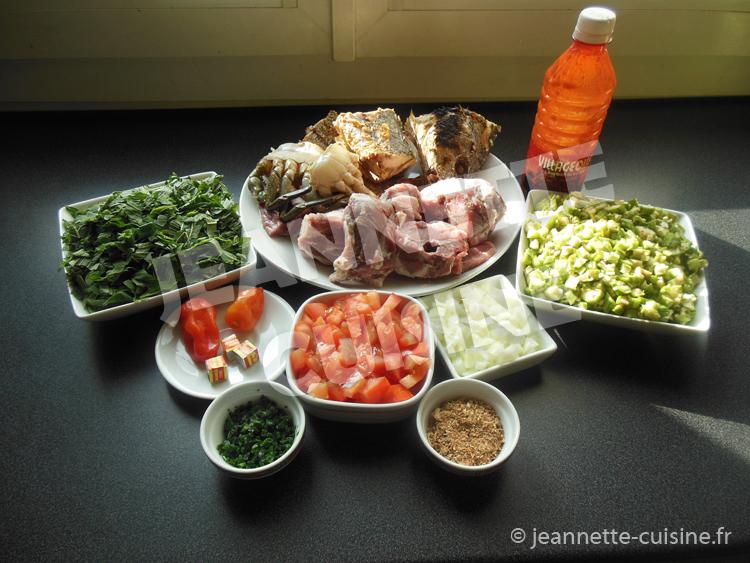 Sauce feuilles de patates douces au gombo et huile rouge plat africain jeannette cuisine - Cuisine africaine facile ...
