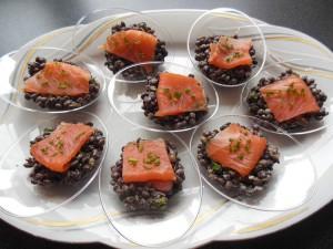 Lentilles au saumon - Jeannette Cuisine