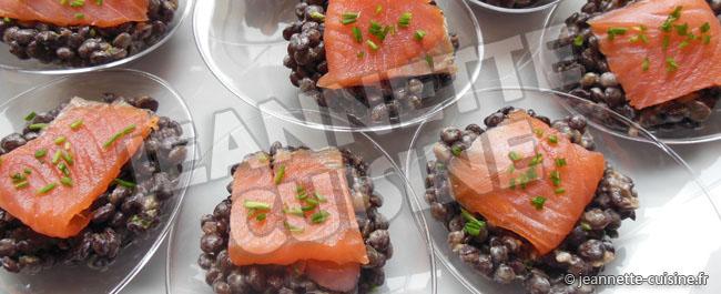 Lentilles au saumon