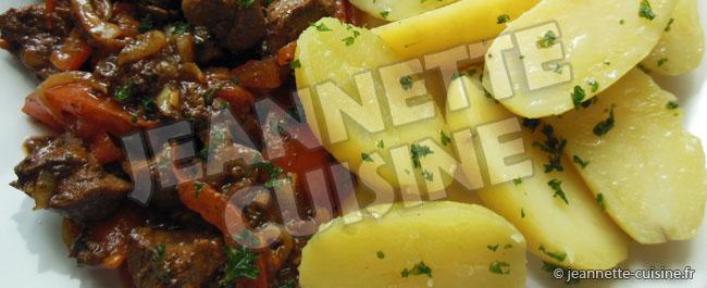Rognons aux pomme de terre de Jeannette Cuisine