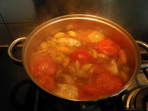 Sauce gnangnan cuisson des légumes