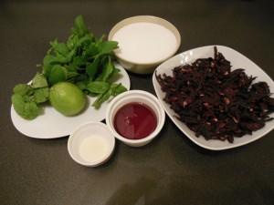 Les ingrédients du jus de Bissap