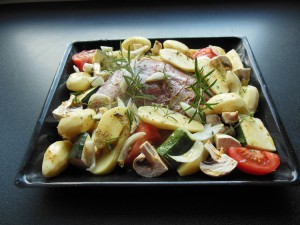 ingredients-autour-de-la-cuisse-de-dinde