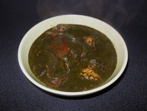 Sauce feuille-sauce baobab-Crabe-Viande