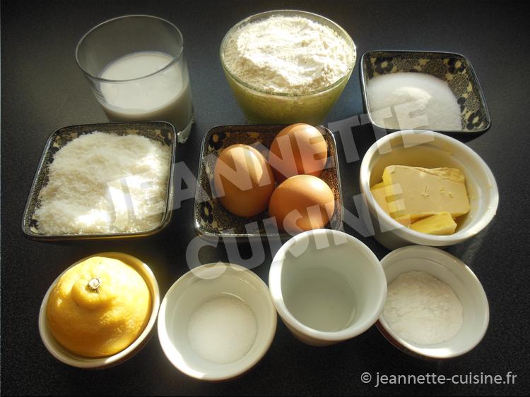 ingrédients beignets soufflés