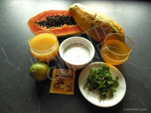 ingrédients jus de papaye