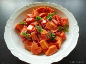 morceaux de papaye